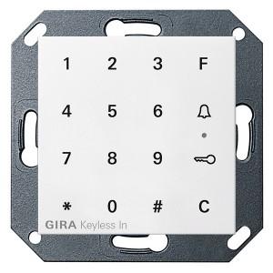 Цифровой кодовый замок Gira System 55 матовый белый
