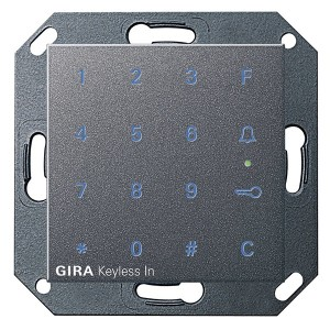 Цифровой кодовый замок Gira System 55 антрацит