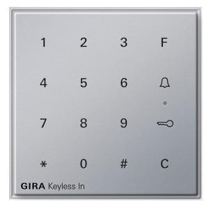 Цифровой кодовый замок Gira TX_44 алюминий