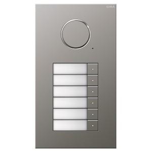 Дверная аудиодомофонная станция Gira Сталь на 6 абонентов