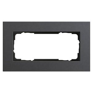 Рамка 2-я без перегородки Gira Esprit Linoleum-Multiplex Антрацит