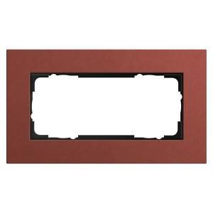Рамка 2-я без перегородки Gira Esprit Linoleum-Multiplex Красный