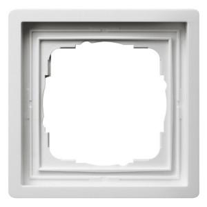 Рамка 1-ая Gira F100 Глянцевый белый