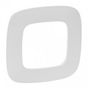 Valena ALLURE.Рамка Тиснение белое.1-постовая универсальная