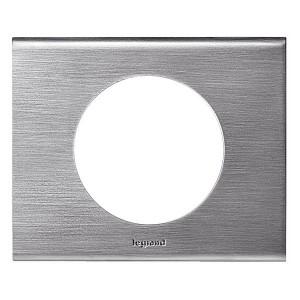 Рамка Legrand Celiane 1 пост фактурная сталь