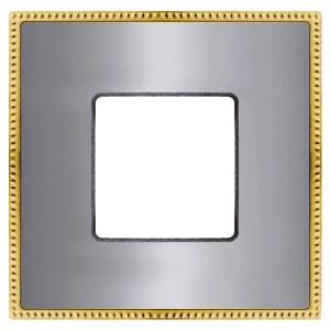 Рамка 1-ная Fede Belle Epoque Metal, bright chrome+bright gold