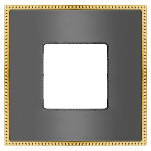 Рамка 1-ная Fede Belle Epoque Metal, graphite+bright gold