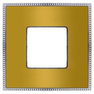 Рамка 1-ная Fede Belle Epoque Metal, bright gold+bright chrome