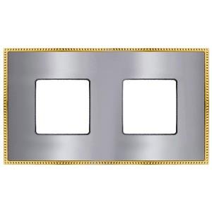 Рамка 2-ная Fede Belle Epoque Metal, bright chrome+bright gold