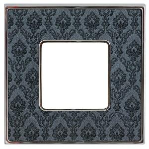 Рамка 1-ная Fede Belle Epoque Tapestry, decornoir-bright chrome