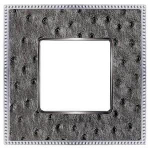 Рамка 1-ная Fede Belle Epoque Tapestry, alienasilverbright-chrome