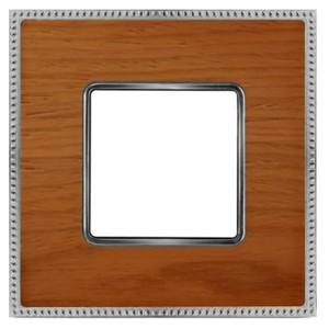 Рамка 1-ная Fede Belle Epoque Wood, cherry-bright chrome