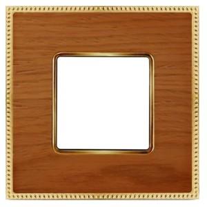 Рамка 1-ная Fede Belle Epoque Wood , cherry-bright gold