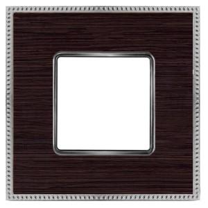 Рамка 1-ная Fede Belle Epoque Wood, wenge-bright chrome