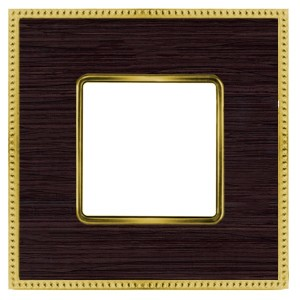 Рамка 1-ная Fede Belle Epoque Wood, wenge-bright gold