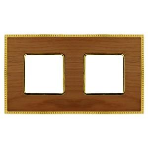 Рамка 2-ная Fede Belle Epoque Wood , cherry-bright gold