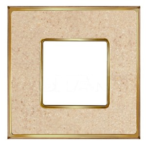 Рамка 1-ная Fede Belle Epoque Corinto, auroramarble-bright gold