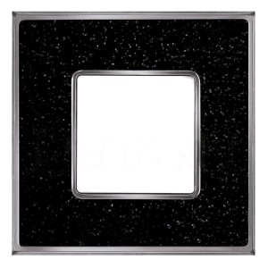 Рамка 1-ная Fede Belle Epoque Corinto, blackquartz-bright chrome