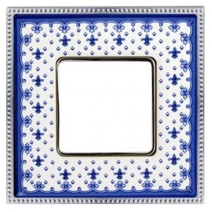 Рамка 1-ная Fede Belle Epoque Porcelain, blue lys-bright chrome