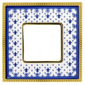 Рамка 1-ая Fede Belle Epoque Porcelain, blue lys-bright gold