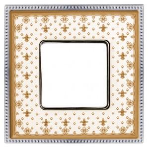 Рамка 1-ная Fede Belle Epoque Porcelain, brown lys-bright chrome