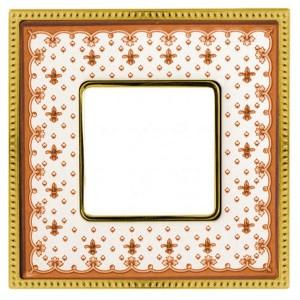 Рамка 1-ная Fede Belle Epoque Porcelain, brown lys-bright gold