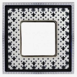 Рамка 1-ная Fede Belle Epoque Porcelain, black lys-bright chrome