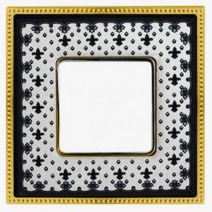 Рамка 1-ная Fede Belle Epoque Porcelain, black lys-bright gold