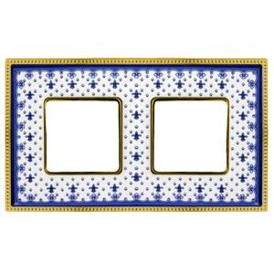 Рамка 2-ая Fede Belle Epoque Porcelain, blue lys-bright gold