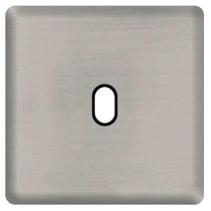 Fede Накладка для 1-го тумблера Fede Antic silver черный