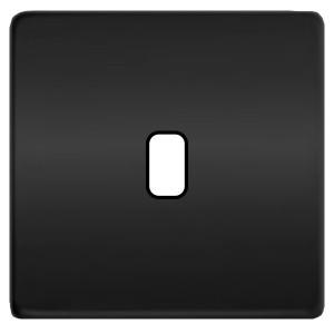 Fede Накладка для 1-го тумблера Fede Graphite черный