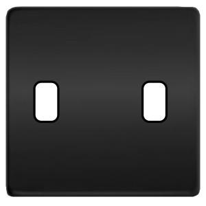Fede Накладка для 2-х тумблеров Fede Graphite черный