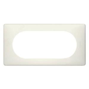 Рамка Legrand Celiane 2п wide белый перкаль