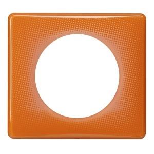 Рамка Legrand Celiane 1 пост оранжевый муар