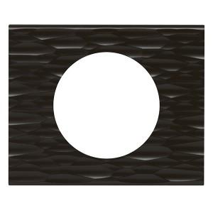 Рамка Legrand Celiane 1 пост сorian черный рифленый