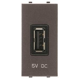 USB зарядное устройство 1 модуль 750мА ABB Zenit,антрацит (N2185 AN)