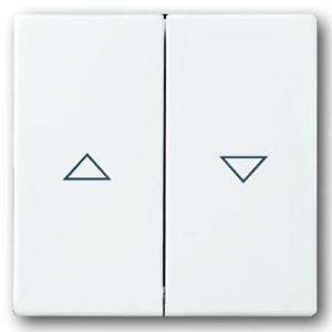 Клавиша выключателя жалюзи 2000/4 U и 2020/4 ABB,solo/future,davos/альпийский белый (1785 JA-84-500)