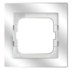 Рамка 1-постовая ABB Axcent, белое стекло (1721-280)