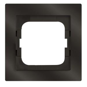 Рамка 1-постовая ABB Axcent, chateau-черный (1721-295-500)