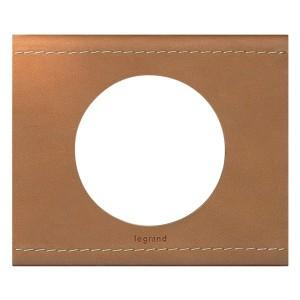 Рамка Legrand Celiane 1 пост кожа крем-карамель