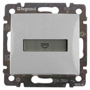Выключатель Legrand Valena для гостиничных номеров стандарт алюминий