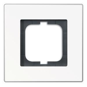 Рамка ABB Carat 1 пост белое стекло (1721-811)