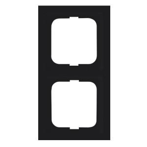Рамка ABB Future Linear 2 пост чёрный бархат (1722-885K-500)