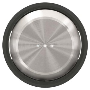 Клавиша для 1-клавишных выключателей с подсветкой ABB SKY Moon, кольцо черное стекло (8601.3 CN)