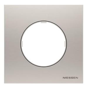 Рамка 1 пост  АВВ SKY Moon, нержавеющая сталь (8671 OX)