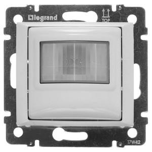 GaleaLife. Датчик движения ИК двухпроводный без N, 240Вт, с возможностью ручного управления. Белый