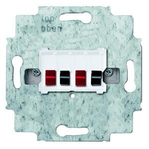 Розетка для громкоговорителя АВВ 4-р, альпийский белый (0248/04-101-500)