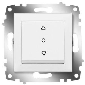 Выключатель жалюзи 3-х позиционный ABB Cosmo белый