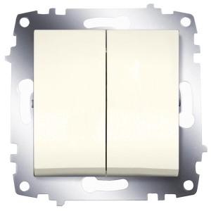 Выключатель двухклавишный ABB Cosmo кремовый