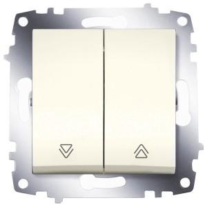 Выключатель двухклавишный для управления жалюзи ABB Cosmo кремовый